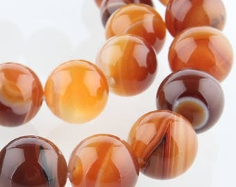 Pearl Agate 12 mm Brown natural stone
