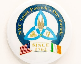 New York City St. Patrick's Day Parade Logo 2 1/4 inch pin/button
