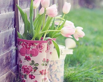 Rain Boot Flower Pots