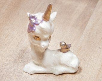 Beautiful Vintage Unicorn Porcelain Figurine