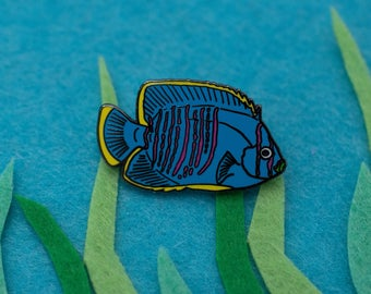 Neon Tropical Fish Hard Enamel Pin