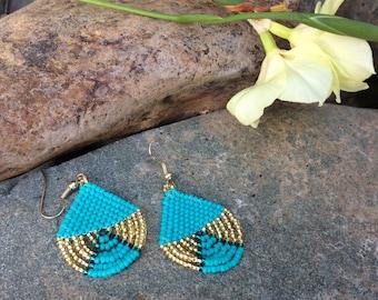 "Seed Bead Earrings ""The Cutie"""