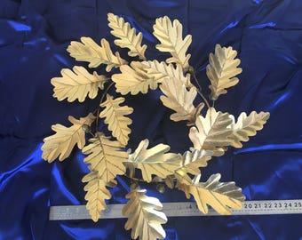 "23"" Solid Brass Oak Leaf & Acorn Wreath"