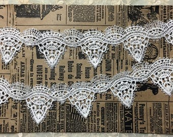 Embroidered Ivory Lace
