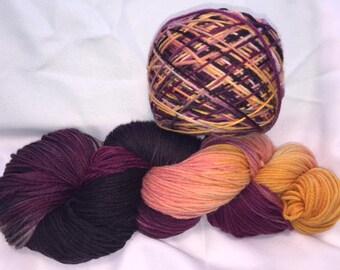 Iris Nebula, DK Weight, Hand Painted, Multi Color, Hand Dyed Yarn, Superwash Merino, Yarn