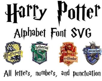 Harry Potter Font SVG | Harry Potter Alphabet SVG | Harry Potter Letters SVG | Harry Potter svg | Harry Potter cut file | Silhouette Cricut