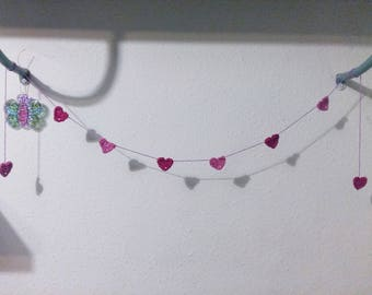 Crochet garland handmade with love