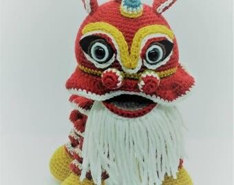 Lion Unicorn Asian new year / Lion Dance New Year