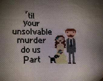 Personalised wedding cross stitch, customisable.
