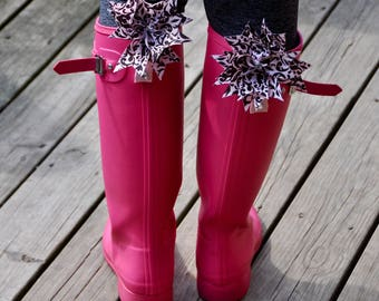 Pink Boot Bow Clips