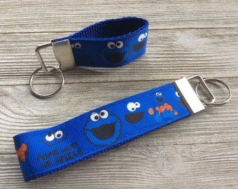 Cookie Monster Key Fob Wristlet and Mini
