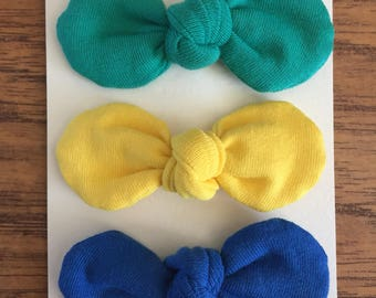 "3"" Bows with alligator clips"