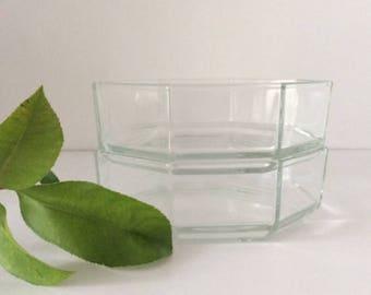 Octagon Octime Glass Bowl | Arcoroc | France | Vintage