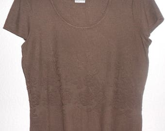 Talbot women's brown cap sleeve rayon top size M