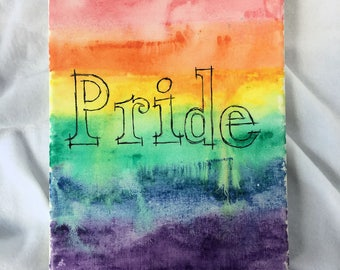 Pride - Rainbow - Original Watercolor Painting on Canvas