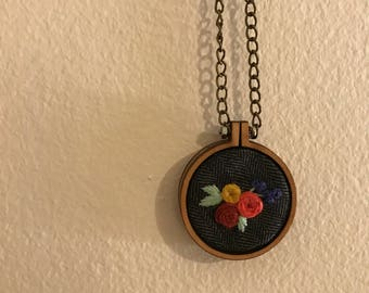 hand stitched necklace