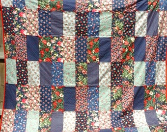 Hand Tied Full/Queen Sized Quilt