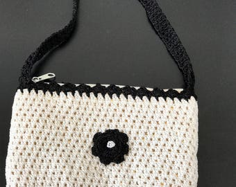 Cotton Mesh Evening Bag with Strap