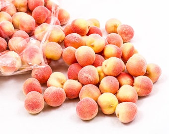 50x Peach Lifelike Fruit Small Kitchen Artificial Fake Food Display Home Decoration Craft DIY Miniature A1922