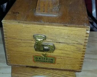 Vintage Shoe Polishing Box
