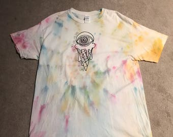 Tie Dye T-Shirt With Design