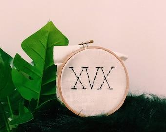 XVX cross stitch