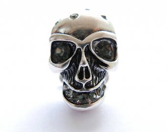 Gray skull button cover