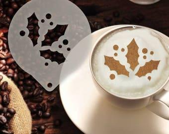 Mistletoe Coffee Stencil