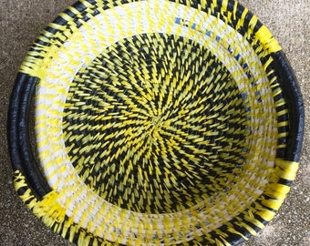 Funky Black and Yellow Basket