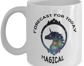 Custom-Designed Magical Unicorn Mug, Coffee Cup, is a Cool Novelty Gift for Women or Girls Who Love the Magic of Unicorns