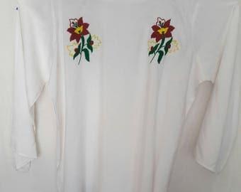 linen handmade embroidery shirt