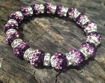 Purple/white Rustic Cuff like Adult Bracelet