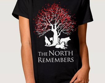 The North Remembers Men's Women's T-shirt Game of Thrones Art Tee