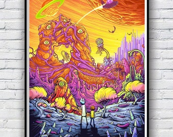 Rick and Morty Poster, Rick and Morty Poster Print, Available in 4 sizes