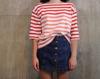 J Crew Ombre Striped Boatneck Top