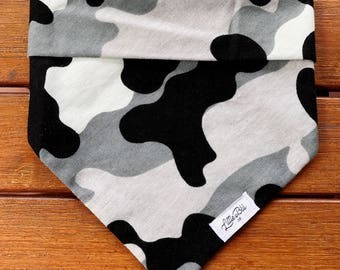 Grey Camo Dog Bandana