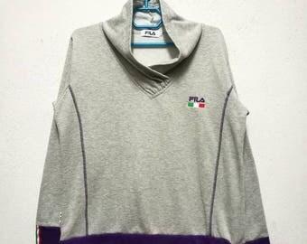 Vintage Fila Small Logo Sweater Sweatshirt Women Size