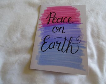Pack of 5 Peace On Earth Watercolour Card