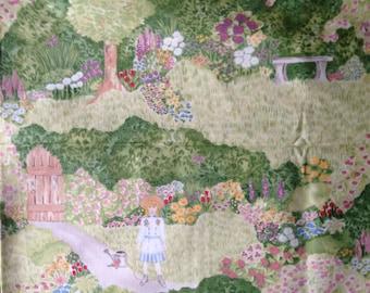 Garden Fabric 1.5 Yds of In the Beginning Fabric
