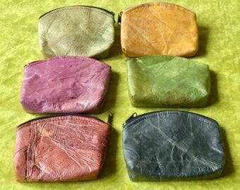 Wallet for men and women in teak leaf, vegan, eco-friendly, waterproof and very sturdy