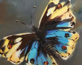 Butterfly. Yellow-blue