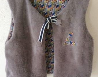 Shepherd baby gray taupe reversible vest