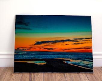 Sunset landscape III wall art canvas