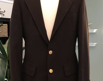 Stanley Blacker Dark Brown Wool Sport Coat - Men's Blazer