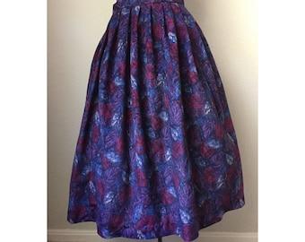 Handmade Jewel Toned Leaves Skirt - Medium