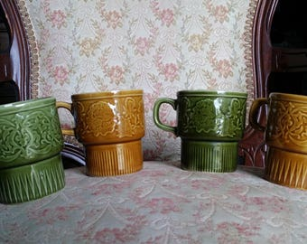 Drip Glaze Stacking Mugs