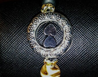 Tibetan circle/heart bracelet