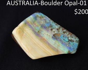Polished Boulder Opal freeform from Australia