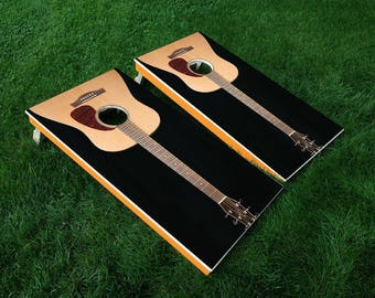 "Cornhole Game Vinyl Decal w/Laminiation - Full Board Graphics 24"" x 48"""