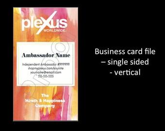 Plexus Business Card (DIGITAL file) - Vertical Single sided
